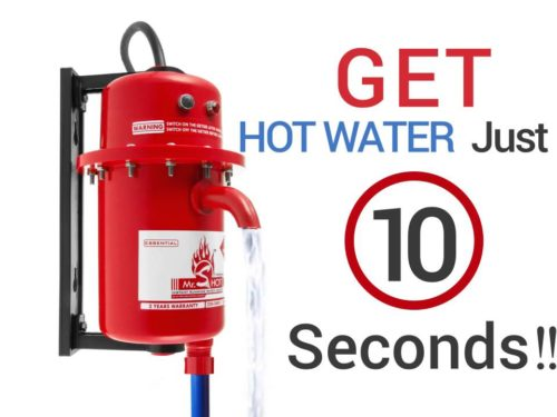 Mr. SHOT® Instant Running Water Heater Manual Reset Model Installation Just in a minute